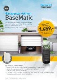 Garagentor-Aktion: BaseMatic - Normstahl Schweiz AG