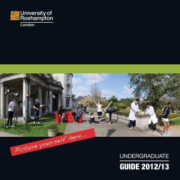guide 2012/13 - University of Roehampton