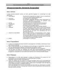 Inkoopvoorwaarden Gemeente Dongeradeel