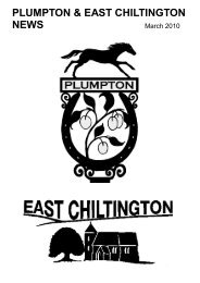 March - Plumpton and East Chiltington News