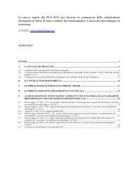 Le nuove regole 2011-2012 per favorire costruzione ... - Global Project