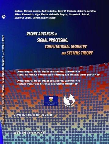 RECENT ADVANCES in SIGNAL PROCESSING ... - Portal