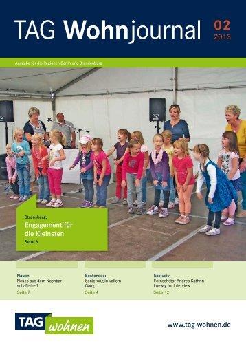 TAG Wohnjournal - Ausgabe Berlin-Brandenburg 2 ... - TAG Wohnen