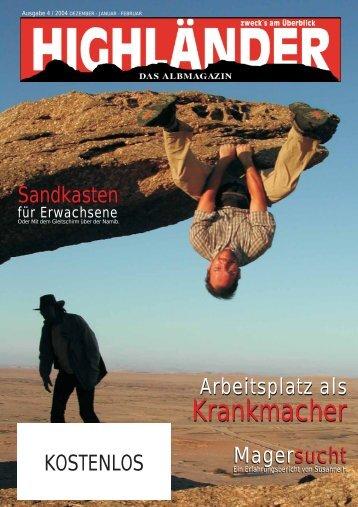 Krankmacher Krankmacher - Highländer Albmagazin