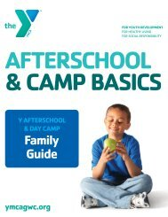 Afterschool & Day Camp Family Guide - YMCA of Greater ...