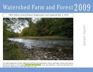 2009 - Watershed Agricultural Council