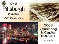 2008 Operating & Capital Budget - City of Pittsburgh