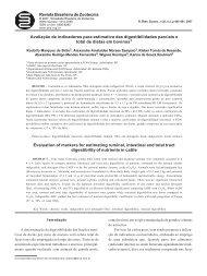 Revista Brasileira de Zootecnia Avaliação de indicadores para ...