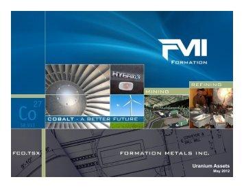 Uranium Assets - Formation Metals Inc.