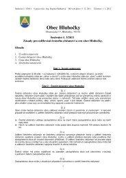 Zásady pro udělování čestného občanství a cen obce Hlubočky