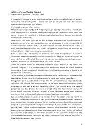 1 INTERVISTA A CESARINI ENRICO di Alessandra Arduini e ...