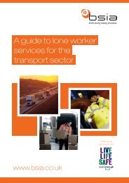 A guide to lone worker services for the transport sector