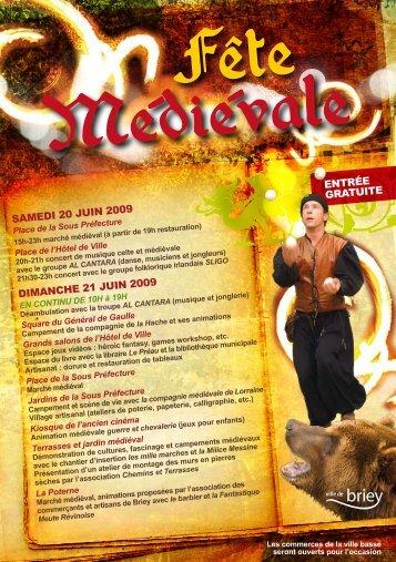 samedi 20 juin 2009 dimanche 21 juin 2009 entrée gratuite - Briey