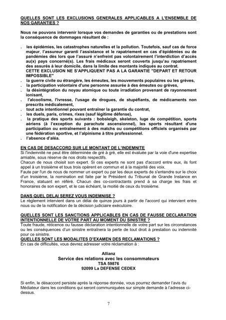 Convention Assistance Plus - Voyageurs du Monde