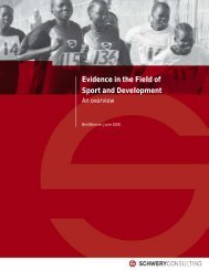 Evidence in the Field of Sport and Development - SCHWERY ...