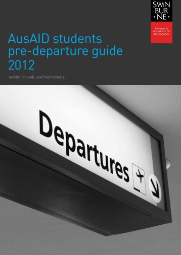 AusAID students pre-departure guide 2012 - International Students