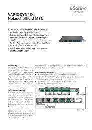 VARIODYN® D1 Netzschaltfeld MSU