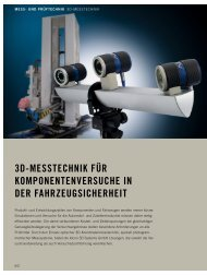 3D-Messtechnik in der Fahrzeugsicherheit - AICON 3D Systems