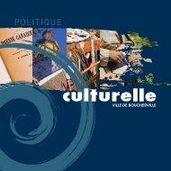 Politique culturelle - Ville de Boucherville