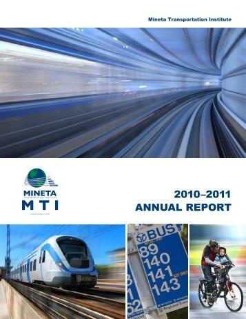 2010–2011 ANNUAL REPORT - Caltrans - State of California