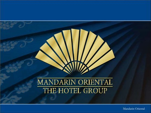 View - Mandarin Oriental Hotel Group