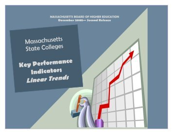 2005 Linear Trend Book: State Colleges - Massachusetts ...