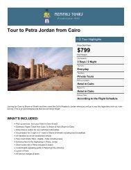 Tour to Petra Jordan from Cairo - Memphis Tours Egypt