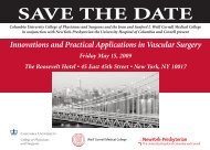 SAVE THE DATE - New York Presbyterian Hospital