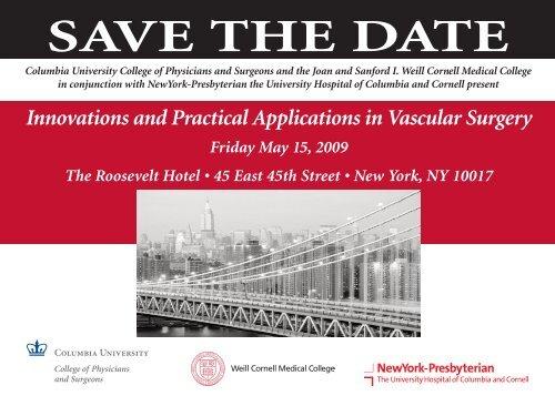 SAVE THE DATE - New York Presbyterian Hospital