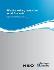 Effective Writing Instruction for All Students - Renaissance Learning