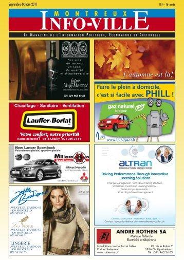Info-Ville septembre octobre 2011 - MontreuxInfoVille