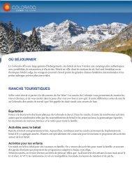 OÙ SÉJOURNER RANCHS TOURISTIQUES