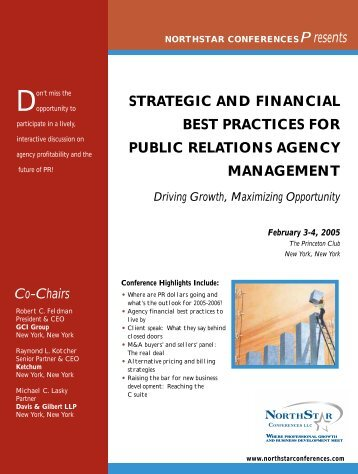 Strategic and Financial Best Practices for Public Relations Agency ...