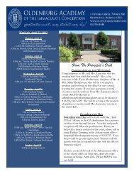 April 23 - Oldenburg Academy