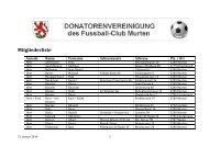 Mitglieder - Donatoren FC Murten