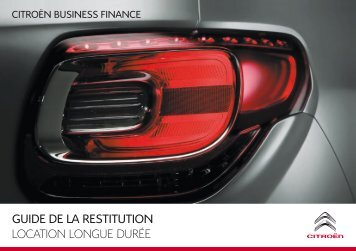 guide de la restitution location longue durée - Groupe Dallard