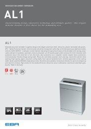 Deskside shredder Al1 - Eba
