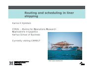 Routing and scheduling in liner shipping