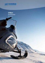 Villkor Snöskoter - Motor - Svedea