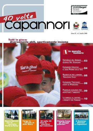 Aprile 2008 - Comune di Capannori