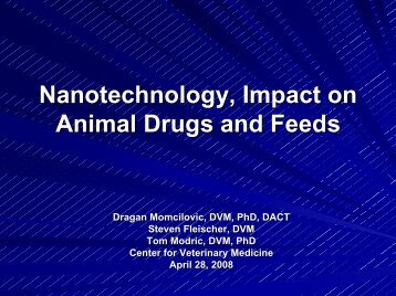 Nanotechnology and the Animal Drug Approval Process