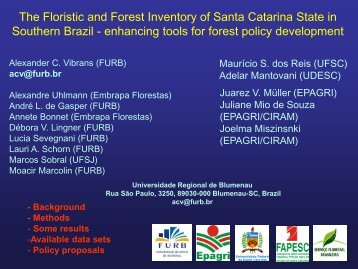 The Floristic and Forest Inventory of Santa Catarina State in ...