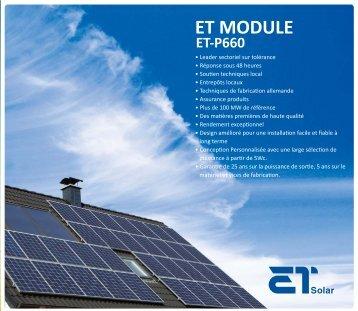 ET-P660 - SAT Solar
