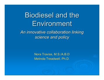 Biodiesel and the Environment - Granite State Clean Cities Coalition