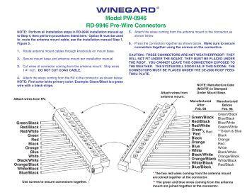 wiring diagram for the sensarproÃ'® tv signal meter model pw 0946 rd 9946 pre wire connectors winegard
