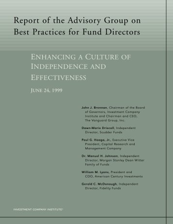 Report of the Advisory Group on Best Practices for Fund Directors (pdf)