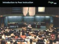 Introduction to Peer Instruction - Eric Mazur