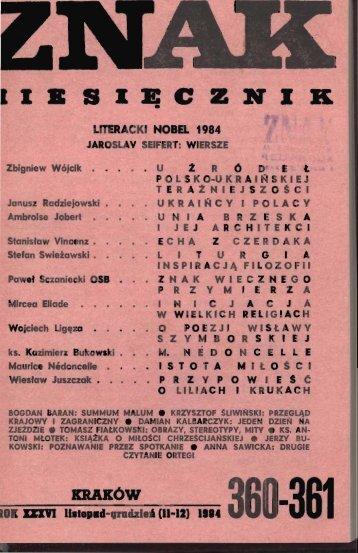 Nr 360-361, listopad-grudzień 1984 - Znak