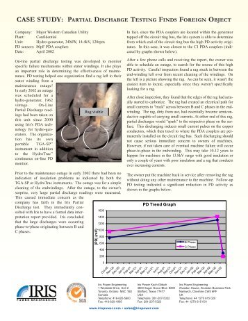 Partial Discharge Testing Finds Foreign Object.qxd - Iris Power ...