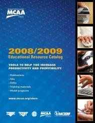2008/2009 Educational Resource Catalog - Mechanical Contractors ...